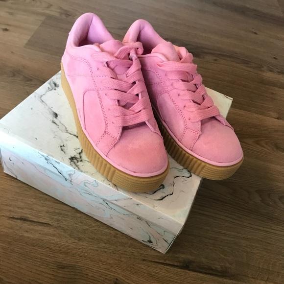 1c9c593638 Cape Robbin Shoes | Pink Platform Sneakers | Poshmark